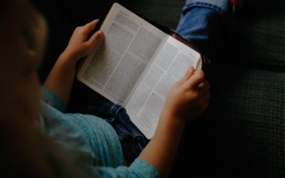 Comforting children with scripture